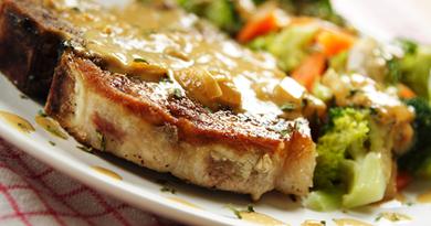Sült karaj tokaji aszú mártással